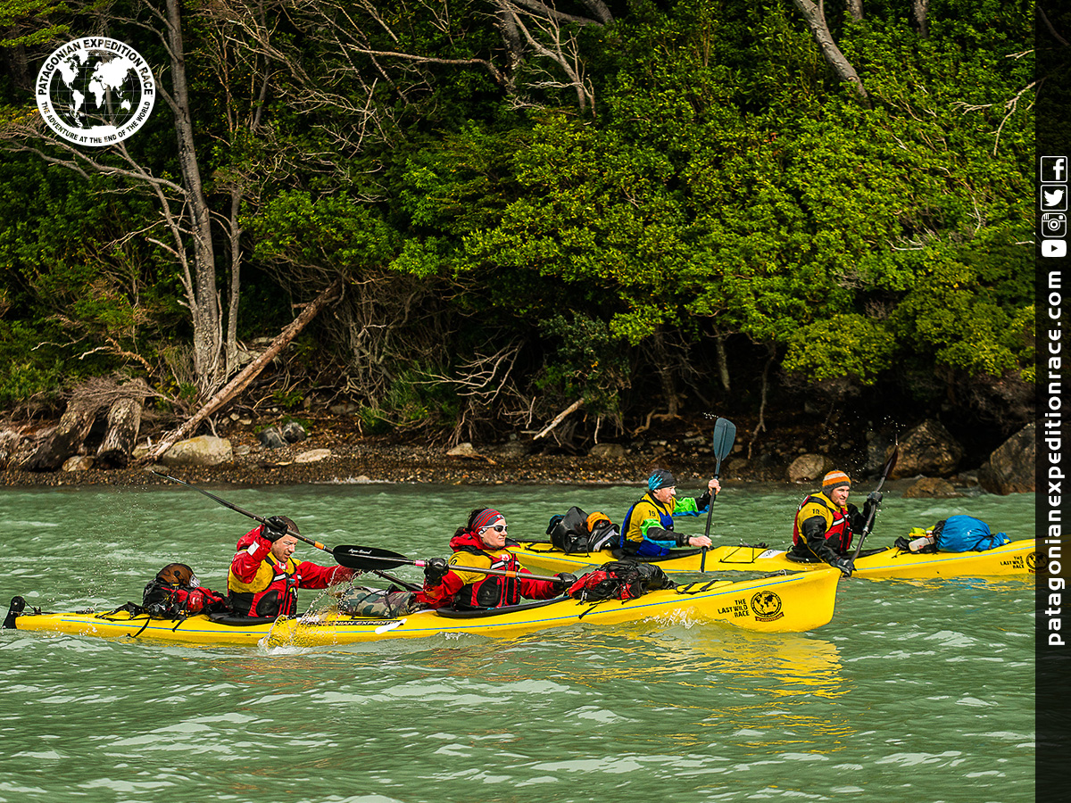 Team Expedition through Chilean Patagonia; Kayak Expedition; Team Mind Over Body; Patagonian Expedition Race 2016 in Patagonia, Chile