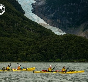 Team Expedition through Chilean Patagonia; Kayak Expedition; Glacier Balmaceda; Team Merrell Adventure Addicts; Patagonian Expedition Race 2016 in Patagonia, Chile